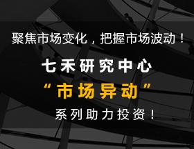 """""""市场异动""""大数据 七禾懂你懂交易!"""