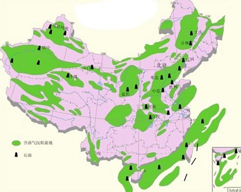 中国原油分布图